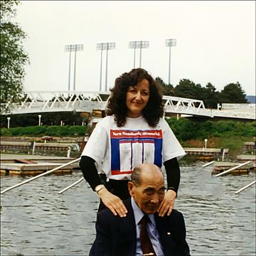 Grace C. Visconti and Tokujiro Namikoshi - Shiatsu Demonstration '95, Ontario Place, Toronto, ON